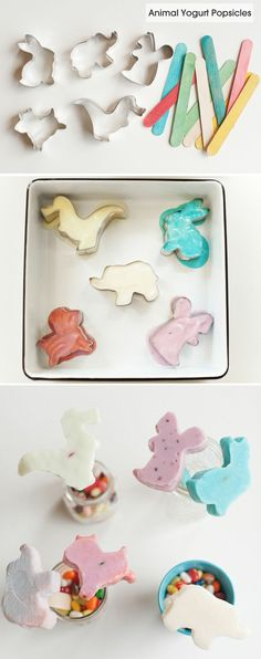 Easy #DIY animal-shaped frozen yoghurt popsicles