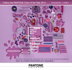 Radiant Orchid = 2014 color of the year - Pantone