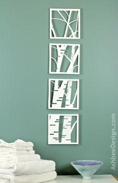 Ashbee Design: Birch Tree Shadow Box • Simple and Stunning