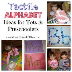 Preschool Learning: Tactile Alphabet Ideas - Touch & Feel the ABC's