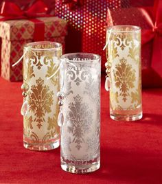 Create sparkling elegance with Pier 1 Glitter Filled Candles
