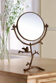 Home Sparrow Table Mirror
