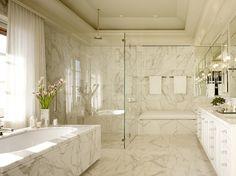 Gorgeous white marble bathroom