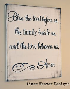 I want this in my kitchen. What a nice little prayer