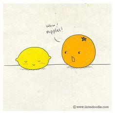 Lemon and Orange by ILoveDoodle, via Flickr