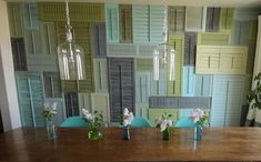 Shutter Decor - 10 Do-It-Yourself Upcycled Wall Art Projects » Curbly | DIY Design Community