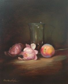 Two Hearts by Christine Hooker Oil ~ 10 x 8