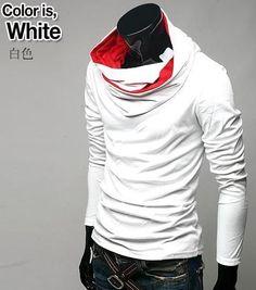 Leisure Design Solid Color Hooded Coat White i566482