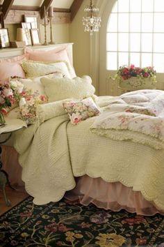 Beautiful Victorian bedroom.