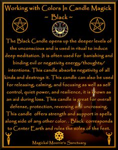 black candle to ward off the colds, flu, and depression of late winter