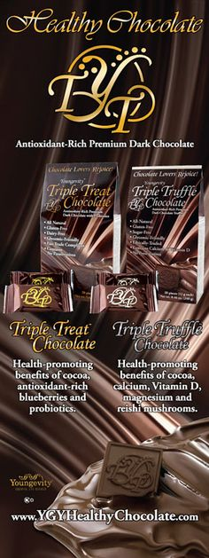 Triple Treat & Triple Truffle Healthy Chocolate. Youngevity ~ There's not much that's better than chocolate in this world LOL
