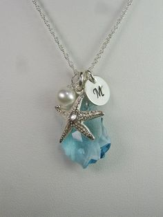 Personalized Bridal Jewelry  Beach Wedding by MesmericJewelry. , via Etsy. I like these...might be good for bridesmaids