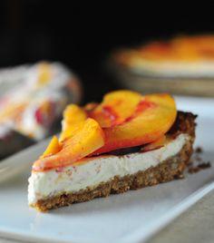 dreamy peach tart