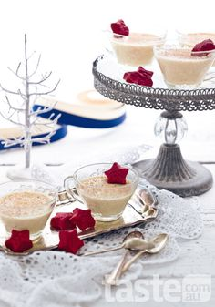 These eggnog creams are a creative take on a traditional Christmas favourite. (Photography by Mark Roper; Recipe by Valli Little).