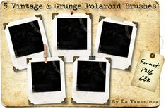 5 Grunge Polaroid Brushes by ~Latrucoteca on deviantART