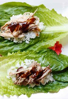 Slow Cooker from Scratch: Slow Cooker Kahlua Pork Lettuce Wraps from Skinnytaste via Slow Cooker from Scratch
