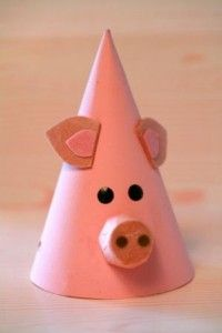 Pig Face Party Hat Template... the cutest piggy face in my heart <3