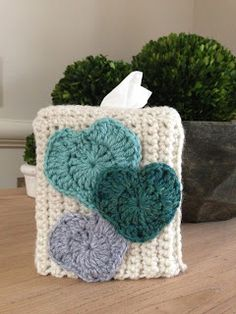Heart Tissue Box Cover Free Pattern