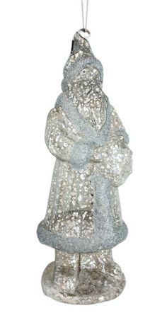 Santa Ornament #antique #oldworld #silver #mercury #Christmas