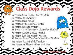 Grade 2.0 with Mrs. Adcock: Class Dojo Rewards