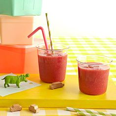 It takes less than 5 minutes to blend up this Berry Cool #smoothie!