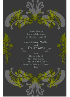 Green & Gray for a Vintage Wedding...!