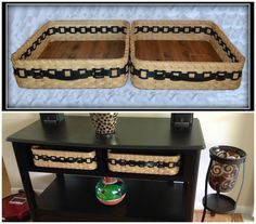 Entry Table Shelf Baskets by Bright Expectations.