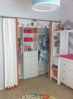 Closet turn out i love it i was hoping to do two curtain panels