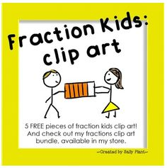 "FREE LESSON - ""Fraction Kids Clip Art FREEBIE"" - Go to The Best of Teacher Entrepreneurs for this and hundreds of free lessons.  Pre-Kindergrten - 1st Grade  #FreeLesson   #TeachersPayTeachers   #TPT    http://www.thebestofteacherentrepreneurs.net/2014/08/httpwwwteacherspayteacherscomproductfra.html"