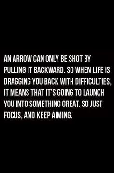keep aiming.