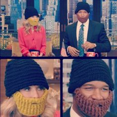 These beard hats seen on #KellyandMichael are available at Fab.com!