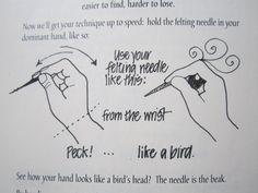 How to needlefelt with wool