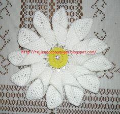 Patrones de flores a crochet.