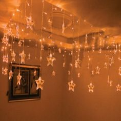 stars from the ceiling.