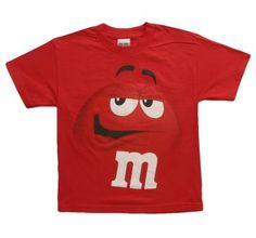 Kids Funny Red M Tee for all the little ones who love M's!  #M #M #candy #kids #boys #girls #clothes #shirts #tshirts #costumes #halloween
