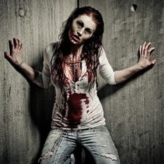 Homemade Costume Ideas Here's an easy to make homemade zombie costume idea for you.  Using old jeans and a shirt with a bit of costume blood and makeup you can become this zombie girl