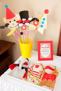 Printable Photo Booth Props for Circus Party