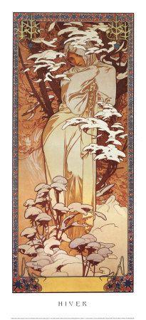 Alphonse Mucha art nouveau print.