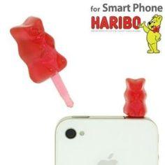 Cyappy HARIBO Gummi Bear Earphone Jack Accessory (Red)