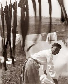 Doing laundry in 1902. :)