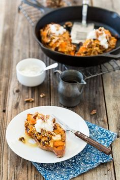 (via Twice-Baked, Oatmeal-Stuffed Sweet Potatoes -) http://veganrecipecollection.tumblr.com/post/81436958053  #healthy #vegetarian #recipes Find more healthy recipes @ standouthealth.com