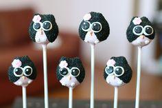 Owl Cake Pops by Sweet Lauren Cakes, via Flickr
