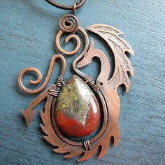 Really awesome dragon necklace.