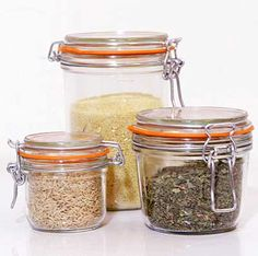 These rubber-gasket French canning jars are perfect for pretty much anything.