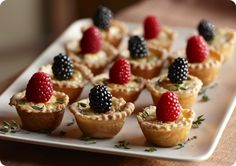 Driscoll's Savory Cheese Tartlets with Mixed Berries. | Driscolls.com