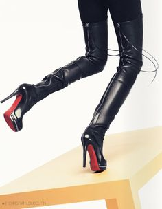 Louboutin Thigh-High Boots