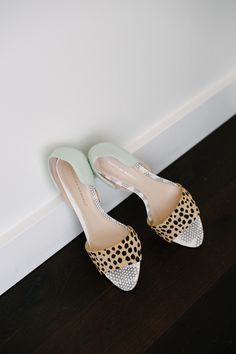 mint and animal print, photo by Celine Kim http://ruffledblog.com/thompson-toronto-wedding #weddingshoes #heels #shoes