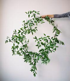 greenery wreath via oncewed.com