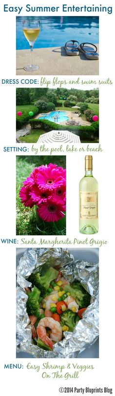 Easy Summer Party Tips and Recipe with #SantaMargherita #plantoparty