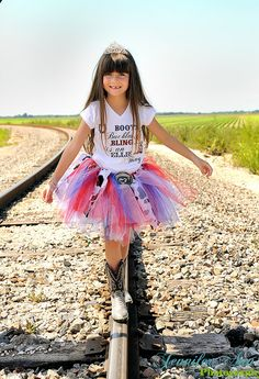 Girls Cowgirl Tutu Cowgirl Birthday Outfit Belt by BailynnBouNique, $55.95
